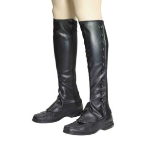 Steampunk Black Boot Spats