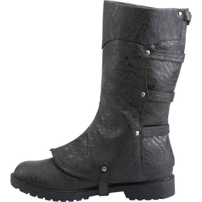 Gothic Boot with Detachable Cuff
