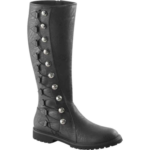 Gothic Lace Up Button Boots