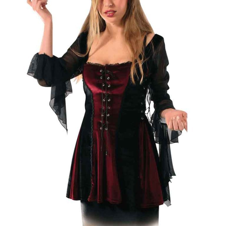 Sheer Sleeved Gothic Blouse