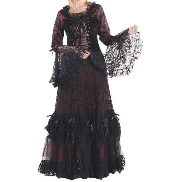Ladies Gothic Lace Dinner Dress