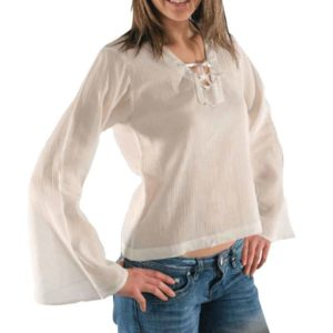 Tied Neckline Long Sleeve Shirt