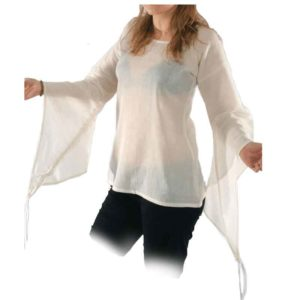 Wide Bell Sleeved Medieval Blouse