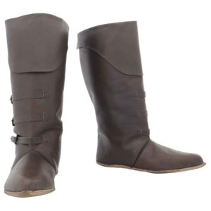Mid Calf Leather Boots