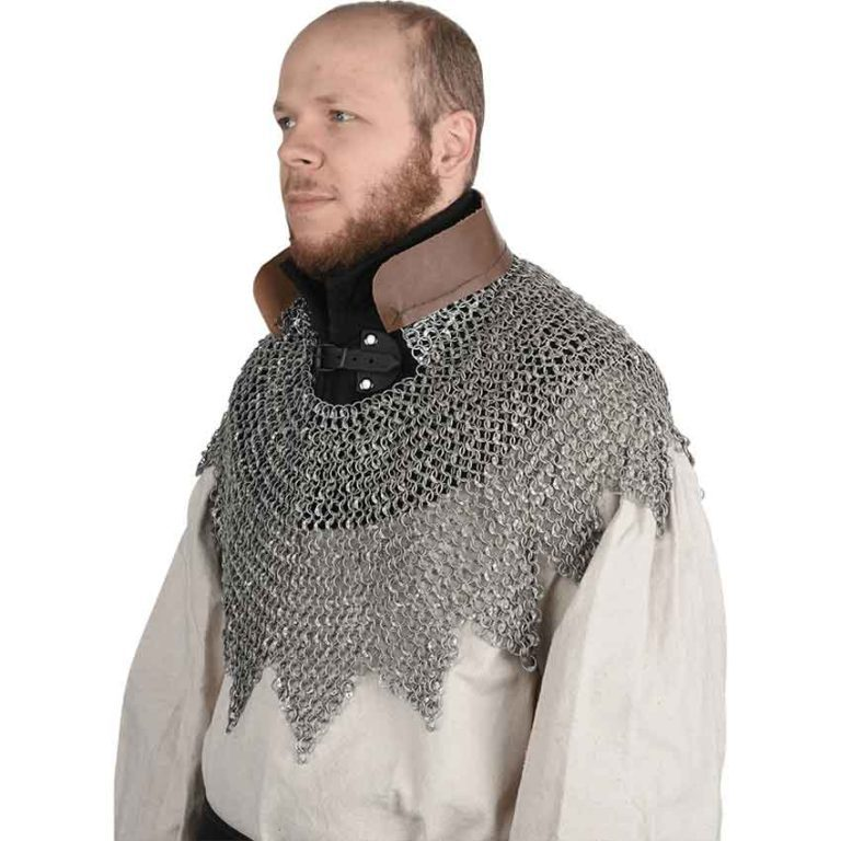 Aluminum Chainmail Aventail with Dagged Edges