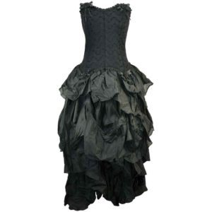 Gothic Corset Dress with Full Skirt