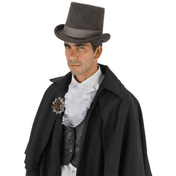 Grey Coachman Top Hat
