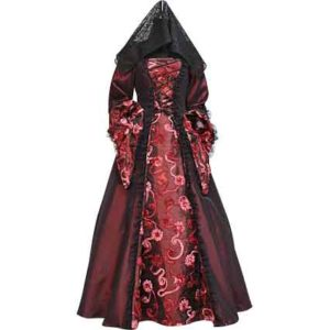 Dark Red Contessa Dress