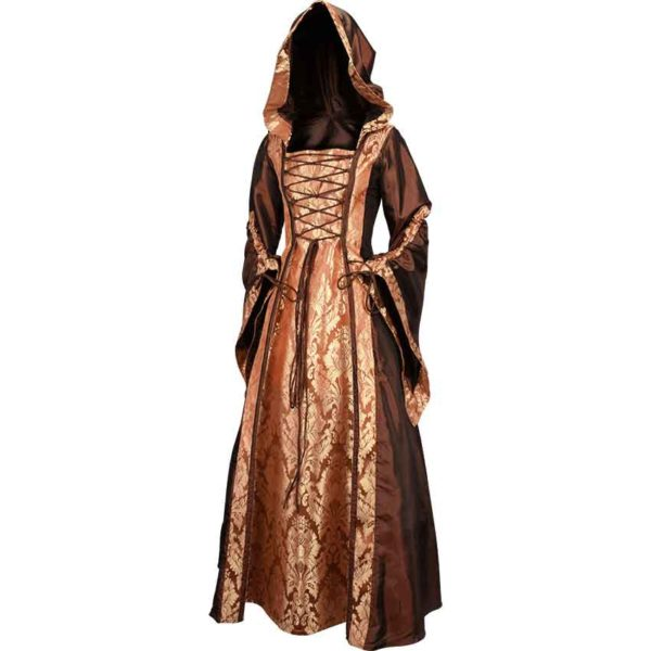 Alluring Damsel Dress with Hood – Copper