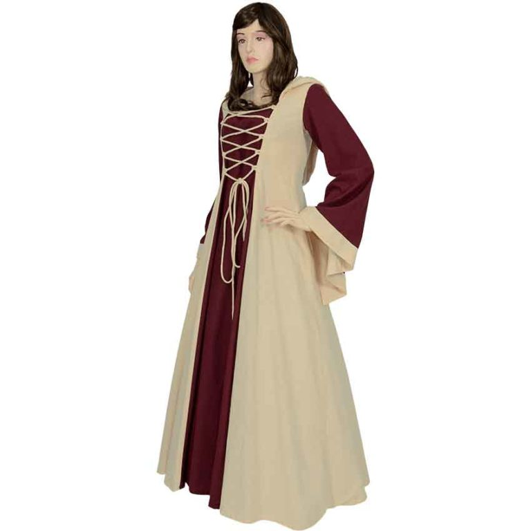 Hooded Medieval Maiden Dress