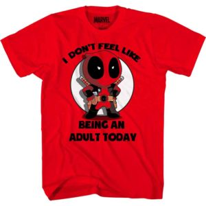 Chibi Deadpool Adults Only T-Shirt
