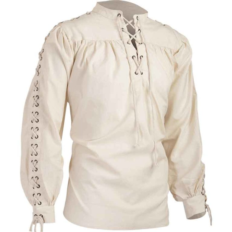 Alex Cotton Shirt with Eyelets