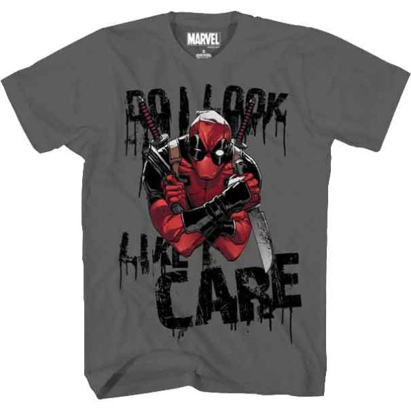 Mens Deadpool Does Not Care T-Shirt