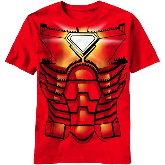 Youth Iron Man Suit T-Shirt