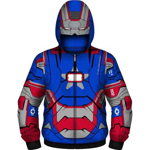 Youth Iron Patriot Suit Hoodie