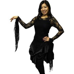 Gothic Ragged Lace Blouse