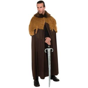 Medieval Warrior Faux Fur Trim Cloak
