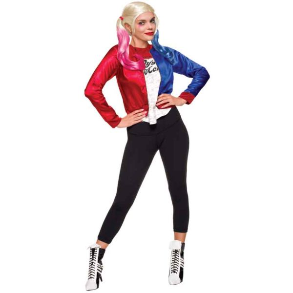 Adult Harley Quinn Costume Jacket with Shirt