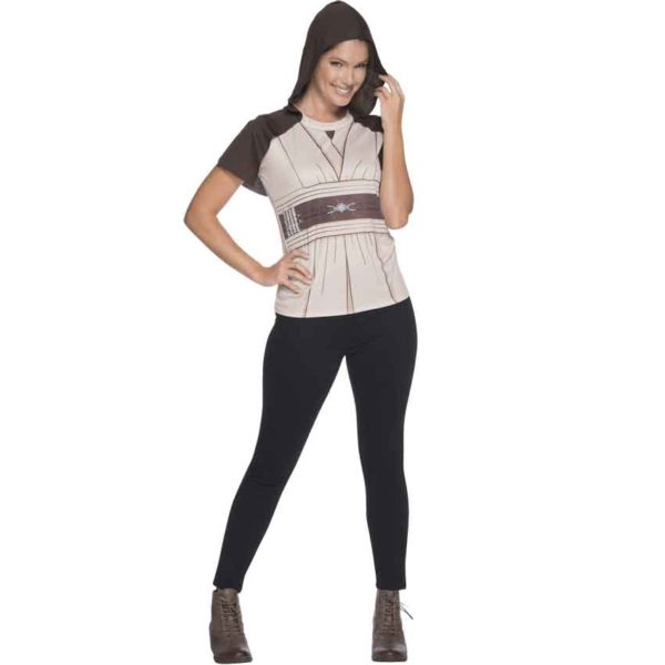 Adult Jedi Hooded Rhinestone Costume Top
