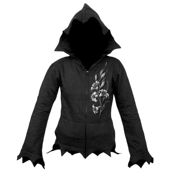 Lost Soul Womens Gothic Zipped Hoodie