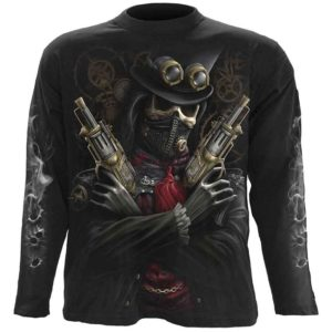 Steampunk Bandit Mens Long Sleeve T-Shirt