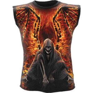 Flaming Death Sleeveless Shirt