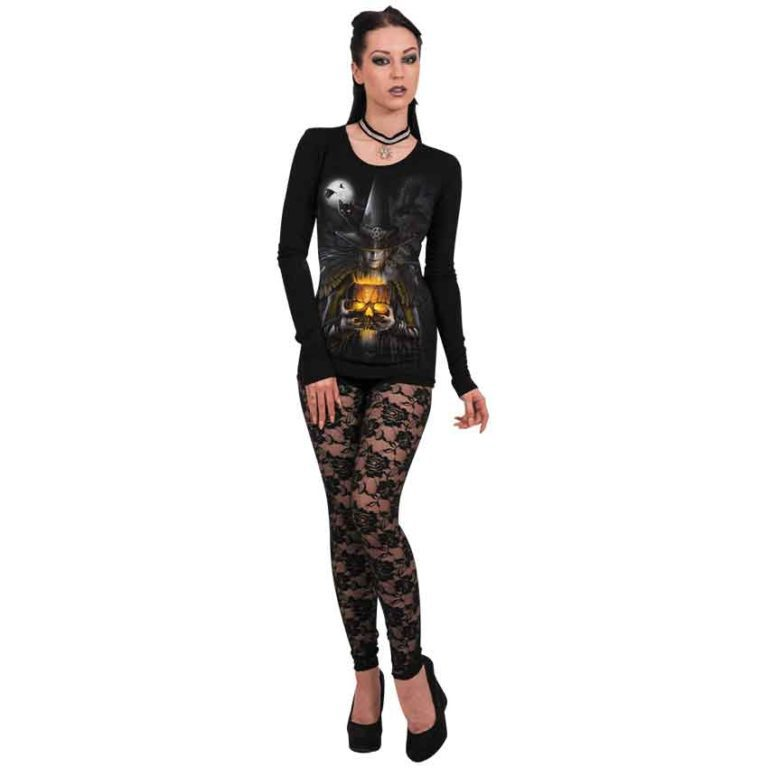Witching Hour Jack o Lantern Long Sleeve Top