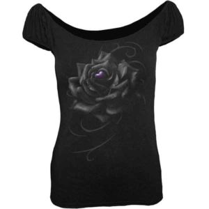 Heart of the Rose Womens Wide Neck Shirt