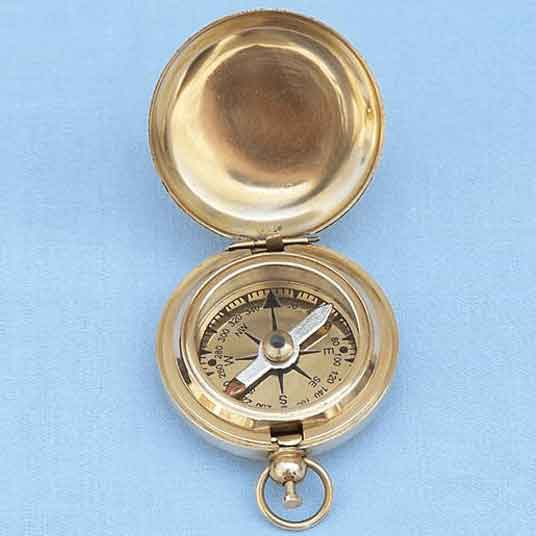 Brass Push-Button Compass