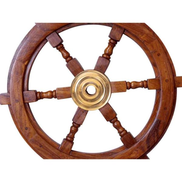 Wooden 15-Inch Ship Wheel