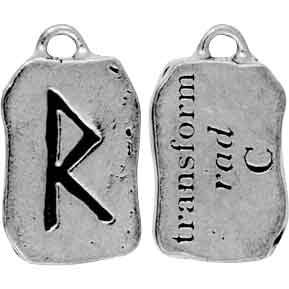 Rad Rune Charm Necklace for Transformation