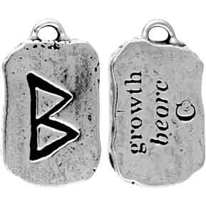 Beorc Rune Charm Necklace for Growth