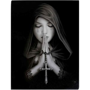 Gothic Prayer Canvas Print by Anne Stokes