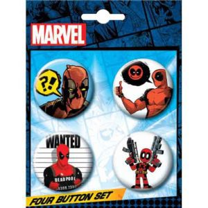 Most Wanted Deadpool Button Set