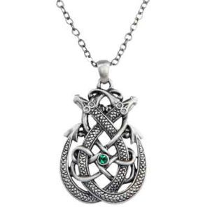 Knotted Celtic Dragon Necklace
