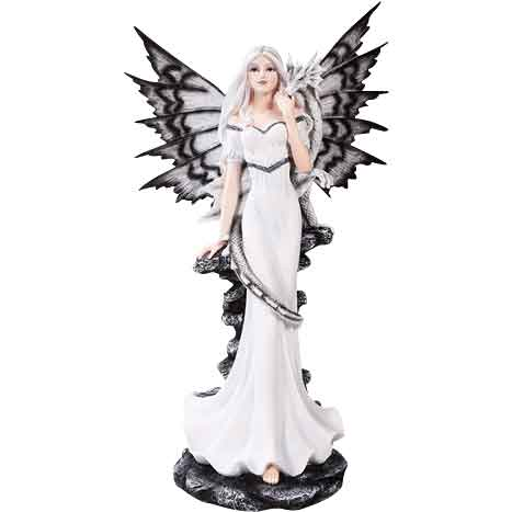 Gothic Fairy with Baby Dragon Statue