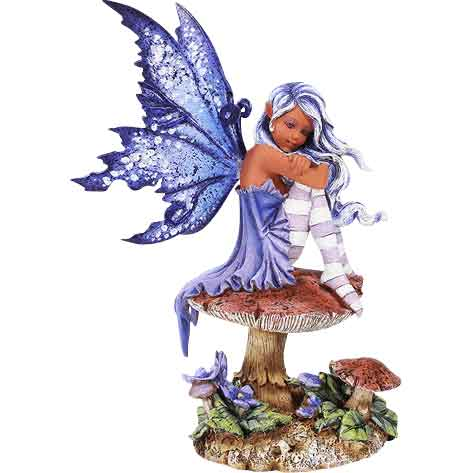 Violet Toadstool Fairy by Amy Brown