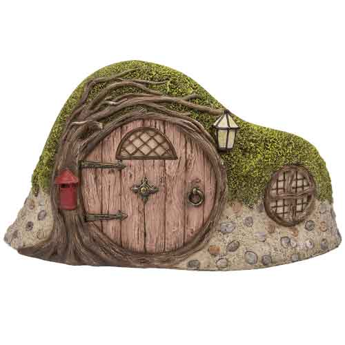 Curved Tree Hole Cottage Garden Statue
