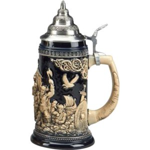 Leif Erikson Antique Blue Stein