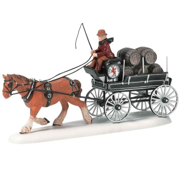 Red Lion Pub Beer Wagon - Dickens Village by Department 56