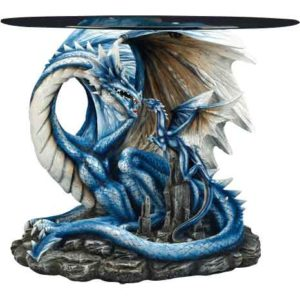 Blue Dragon with Hatchling Table