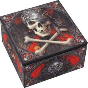 Pirate Skull Designer Box by Anne Stokes