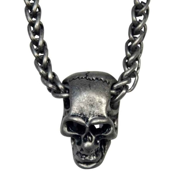 Gothic Silver Skull Necklace