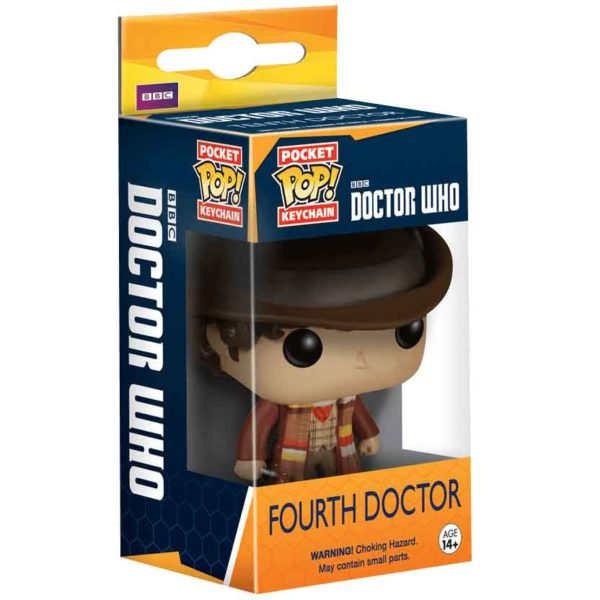 Doctor Who Fourth Doctor Pocket POP Keychain
