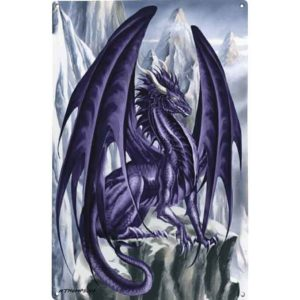 Hoarfrost Dragon Metal Sign