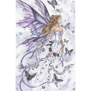 Lavender Serenade Metal Fairy Sign