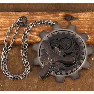 Large Gear & Propeller Steampunk Necklace