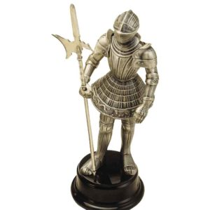 Miniature Knight Statue with Halberd by Marto