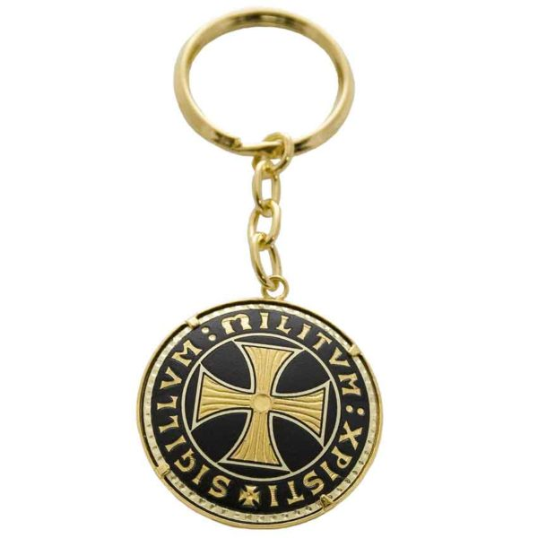 Damascene Templar Cross Keychain by Marto