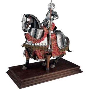 Mounted Spanish Knight in 16th Century Armor Statue by Marto